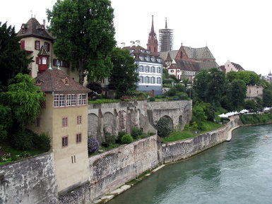 Basel on the Rhine river