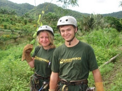 Gap year students on GreenFORCE