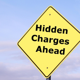 hidden charges ahead sign