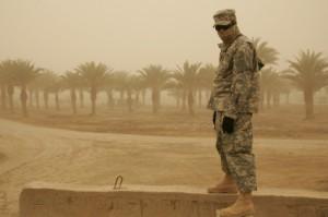 A soldier in Baghdad