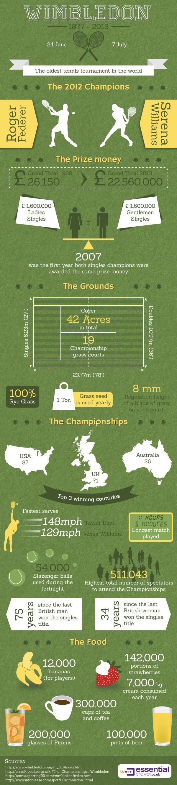 Wimbledon 2013 Infographic