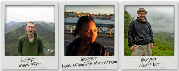 Bloggers: Jonny, Lola, David