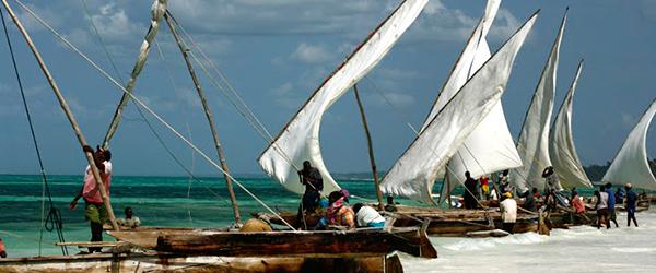 Dhow boats in Zanzibar
