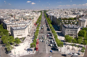 Champs-Elysees in Paris