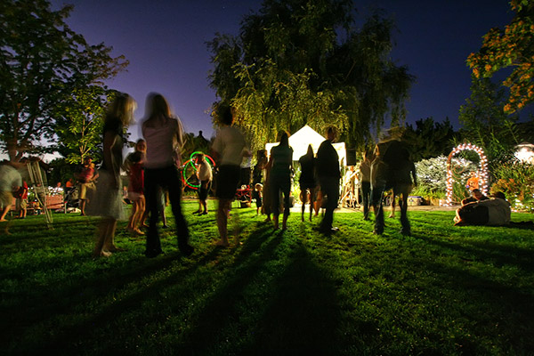 See a nighttime show outdoors