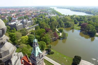 Aerial view of Hannover