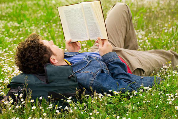 Read a book outdoors