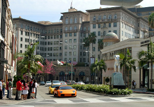 Rodeo Drive in Beverly Hills, Los Angeles