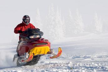 Snow Mobiling Fun