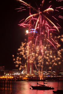Spinnaker Tower fireworks