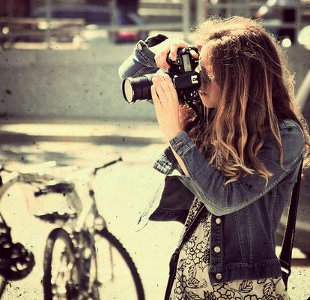 Street Photographer With Camera