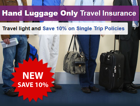 Hand luggage travel insurance