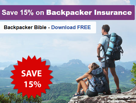 Save 15% on backpacker insurance