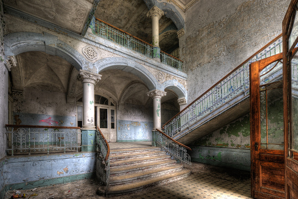 Abandoned hospital in Beelitz near Berlin