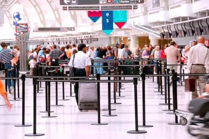 Lengthy queues at security