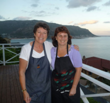 Ann-Marie and chef at training kitchen