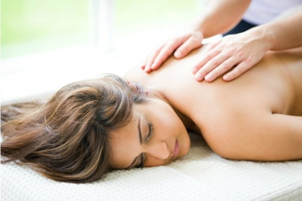 A back massage at Ragdale Hall