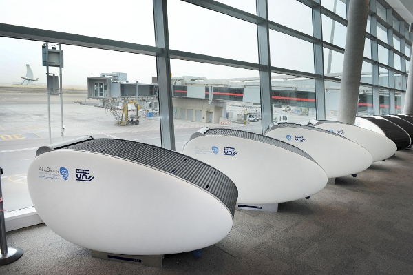 Abu Dhabi Airport Introduces Sleeping Pods