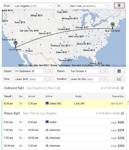 google 39 s new flight search engine. Black Bedroom Furniture Sets. Home Design Ideas