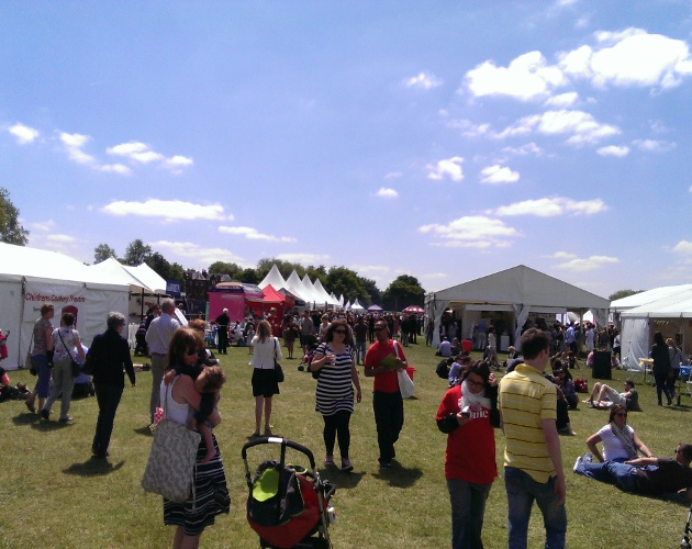The weather was fantastic for the first Clapham Common Foodies Festival