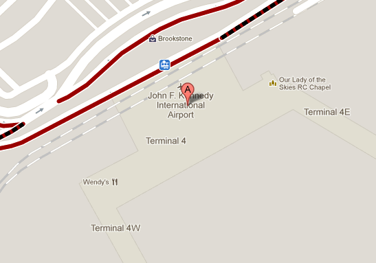 Google map of JFK