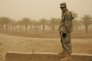 A soldier in Baghdad