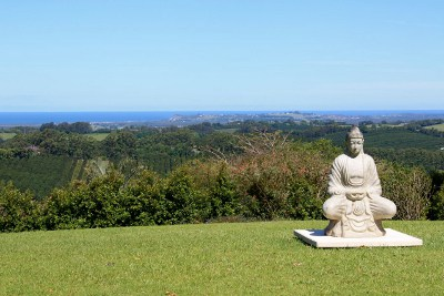 Buddha Statue On Hill