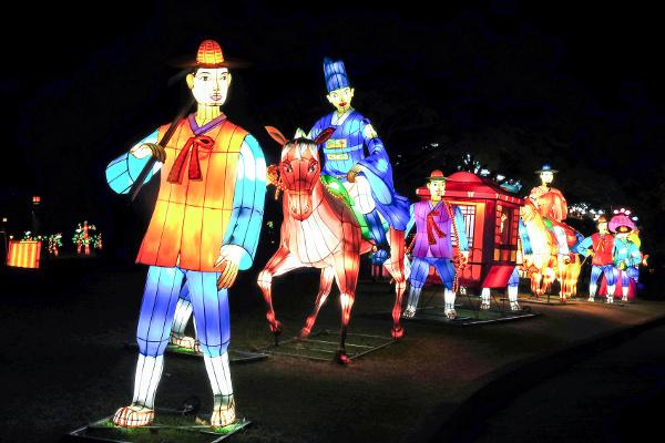 Big colourful lanterns