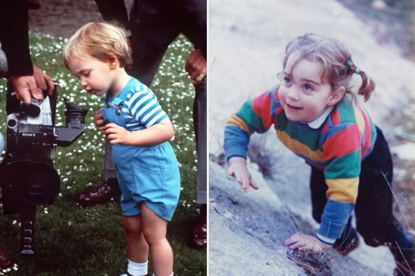 Kate Middleton & Prince William as children