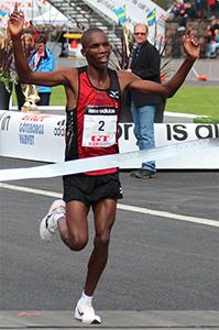 Kenyan Marathoner, Victor Kipchirchir Kebenei