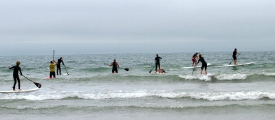 Paddling away from East Wittering