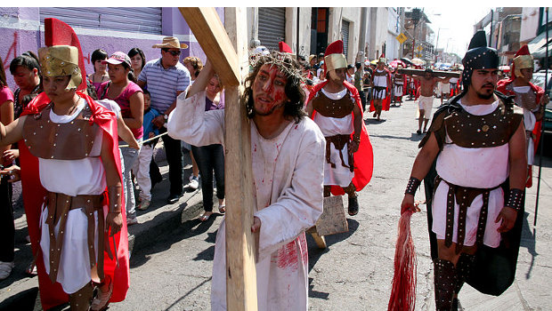 A passion play in Mexico
