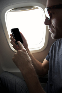 Using phones on the plane