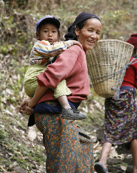 Traditional Sherpa Family