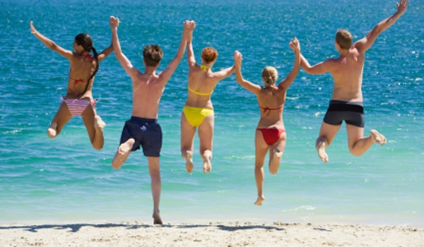 Group travelling with travel insurance cover