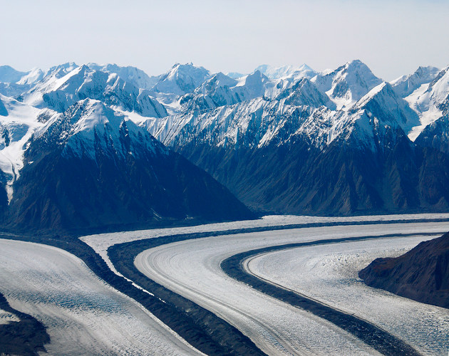 The glaciers of the Yukon River