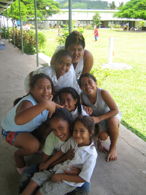 Students in Cook Islands