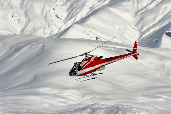 Rescue after a ski accident