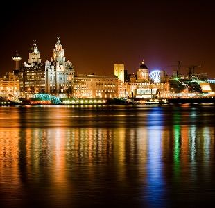 Liverpool at night