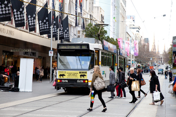 Shopping on Bourke Street
