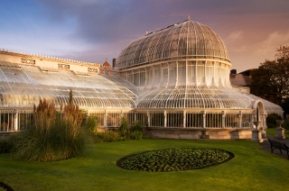 Palm House Conservatory in Belfast Botanical