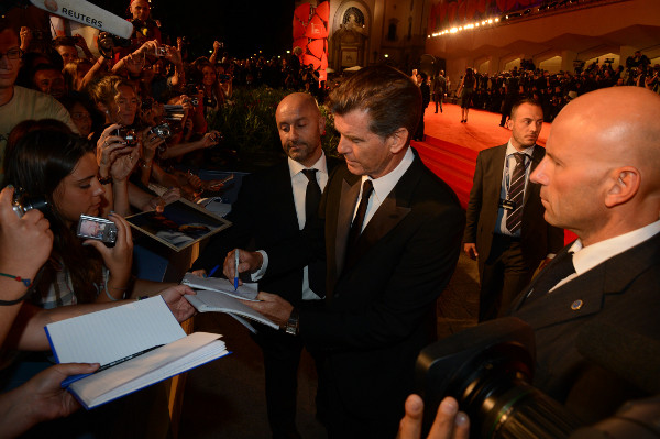 Pierce Brosnan at Venice Film Festival