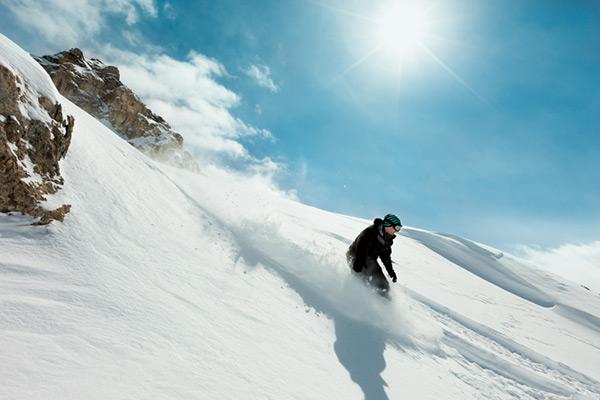 Snowboarding in Switzerland