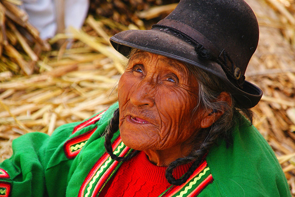Woman in Lake Titicaca