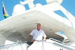Captain Shaun Mundow on the yacht Sherilyn