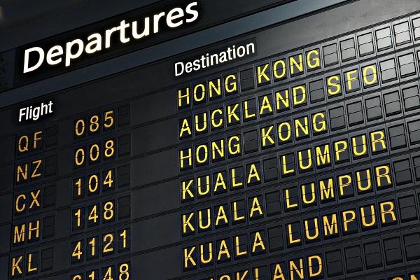 Aiport Departures Board