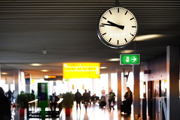 Leave enough time to get to the airport
