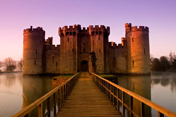 Bodiam Castle with lake