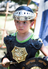 Playing A Roman Soldier