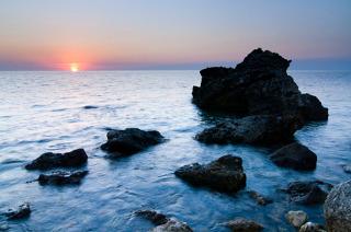 Beach in Yalta, Crimea